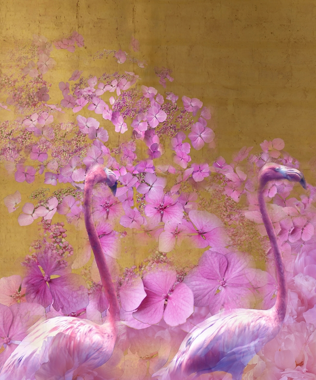 The flamingos   2.   102 cm x 137 cm .       From 300 €.