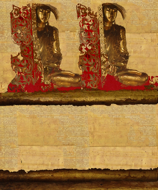 The Burmese manuscript .    102 cm x 137 cm .      From 300 € .
